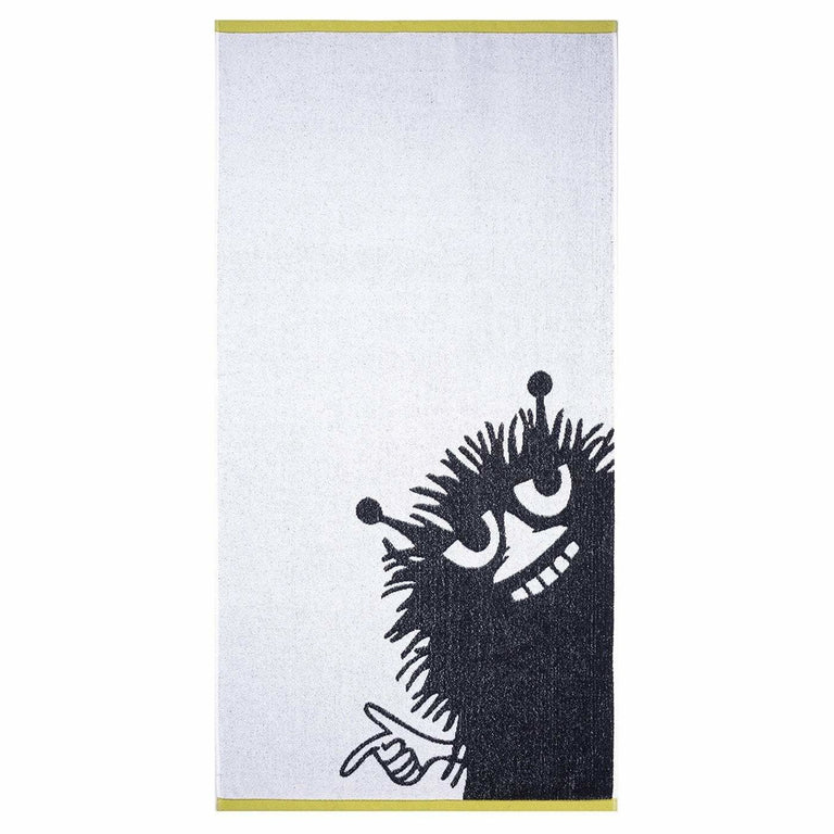 Stinky bath towel white/grey 70 x 140 cm by Finlayson - The Official Moomin Shop