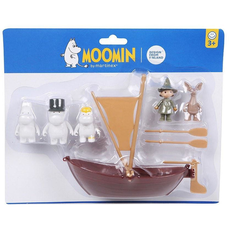 Moominpappa and his sailboat with characters - The Official Moomin Shop