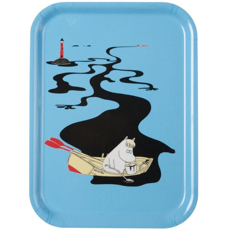 Håll Sverige Rent Moomin tray blue by Opto Design - The Official Moomin Shop