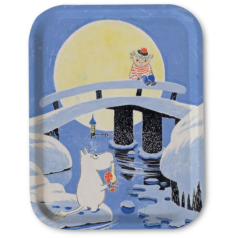 "Moomin ""Midwinter"" Tray 27 x 20 cm - Opto Design - The Official Moomin Shop"