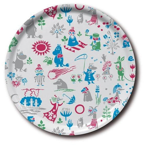 Moomin pattern tray 38 cm - The Official Moomin Shop
