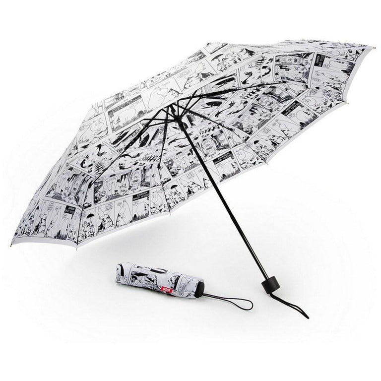 Moomin White Comic umbrella by Lasessor - The Official Moomin Shop