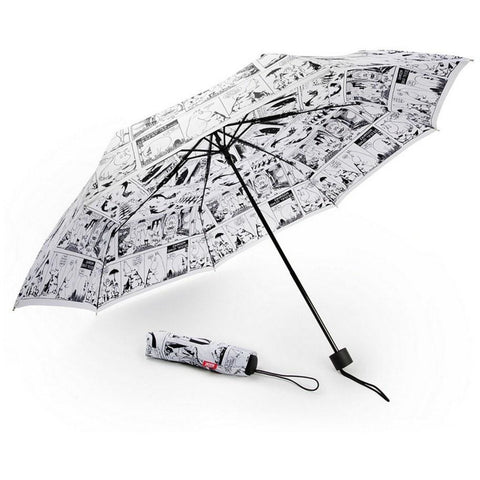 Moomin White Comic umbrella by Lasessor