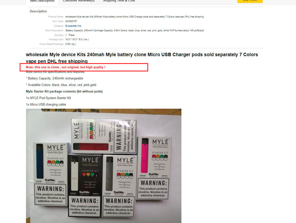 How not to buy FAKE MYLE – DV - Dubai's Official Vape Supplies Store