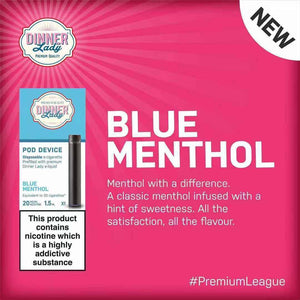 DINNER LADY DISPOSABLE POD DEVICE – BLUE MENTHOL