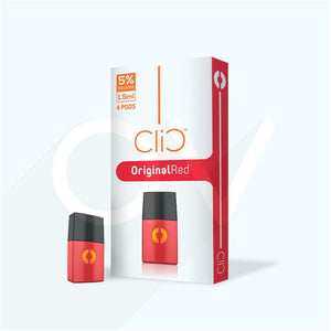 Original Red Tobacco - Clic Vapors 1.5ml Pods (4 count)