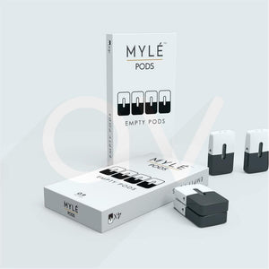 "MYLE Replacement ""empty"" refillable Pods - 4 pods packs"