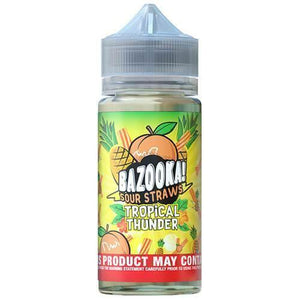 Bazooka Sour Straws - Tropical Thunder - Pineapple Peach - 60ml