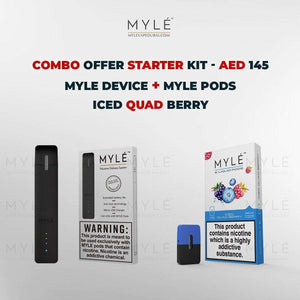 Myle Starter Kit Combo Offer - Myle Device + Iced Quad Berry 4 Pods