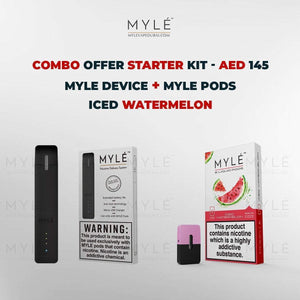 Myle Starter Kit Combo Offer - Myle Device + Iced Watermelon 4 Pods