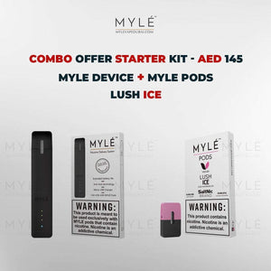 Myle Starter Kit Combo Offer - Myle Device + Lush Ice 4 Pods