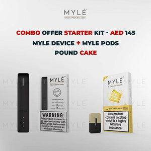 Myle Starter Kit Combo Offer - Myle Device + Pound Cake 4 Pods