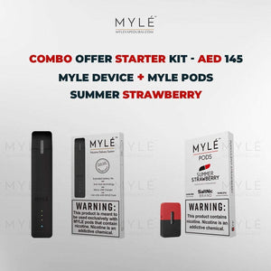 Myle Starter Kit Combo Offer - Myle Device + Summer Strawberry 4 Pods