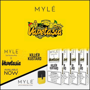 Myle Pods Vapetasia Killer Custard Flavor - 40 Pods / 10 Packs