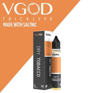 VGOD and SaltNic eJuice - DRY TOBACCO - 30ml