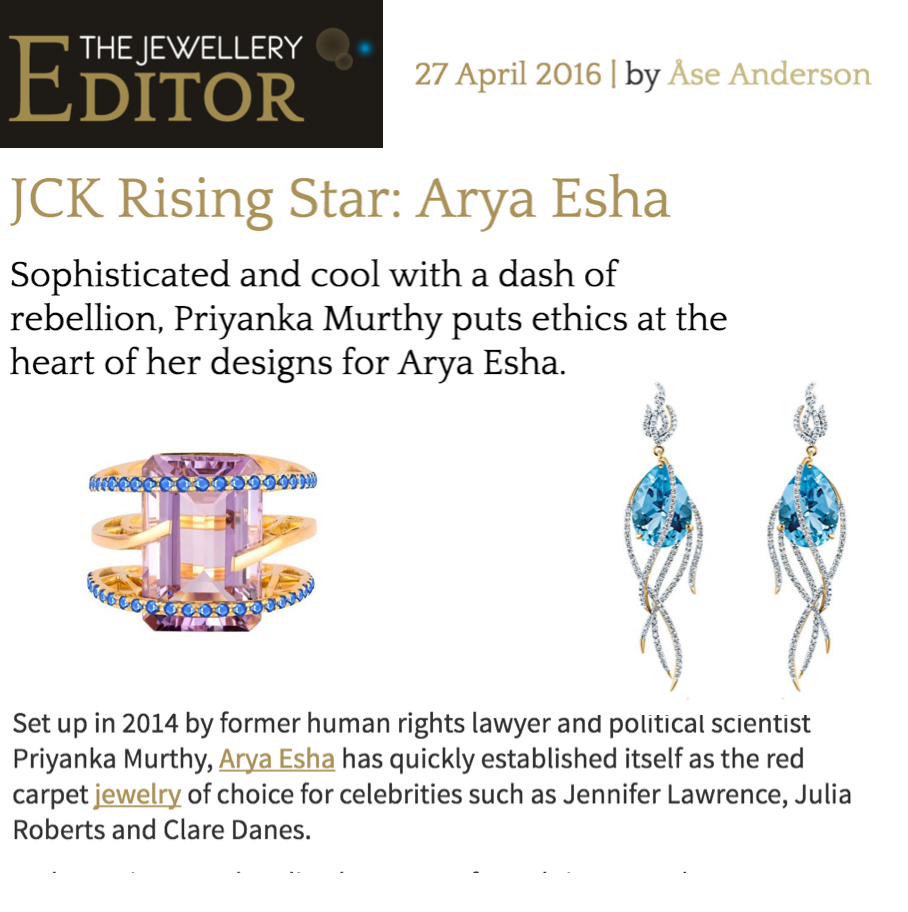 Arya Esha Designs are Sophisticated with a Dash of Rebellion