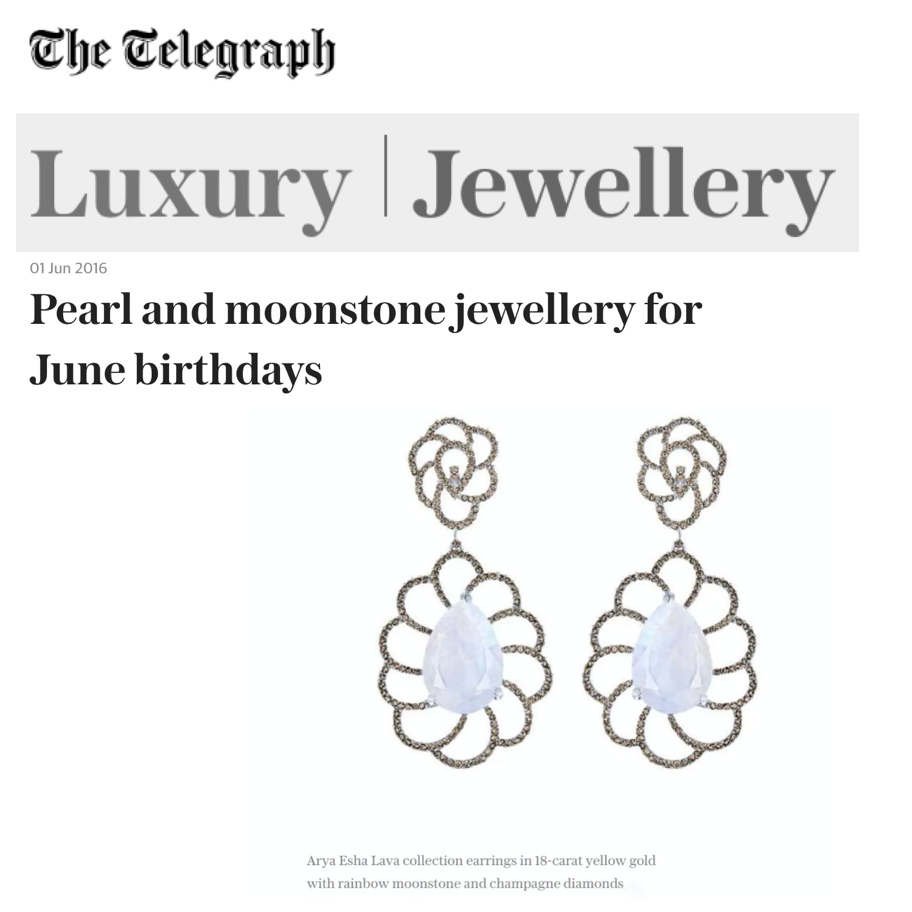 Arya Esha Earrings Chosen Among Luxury Jewels in the UK at The Telegraph