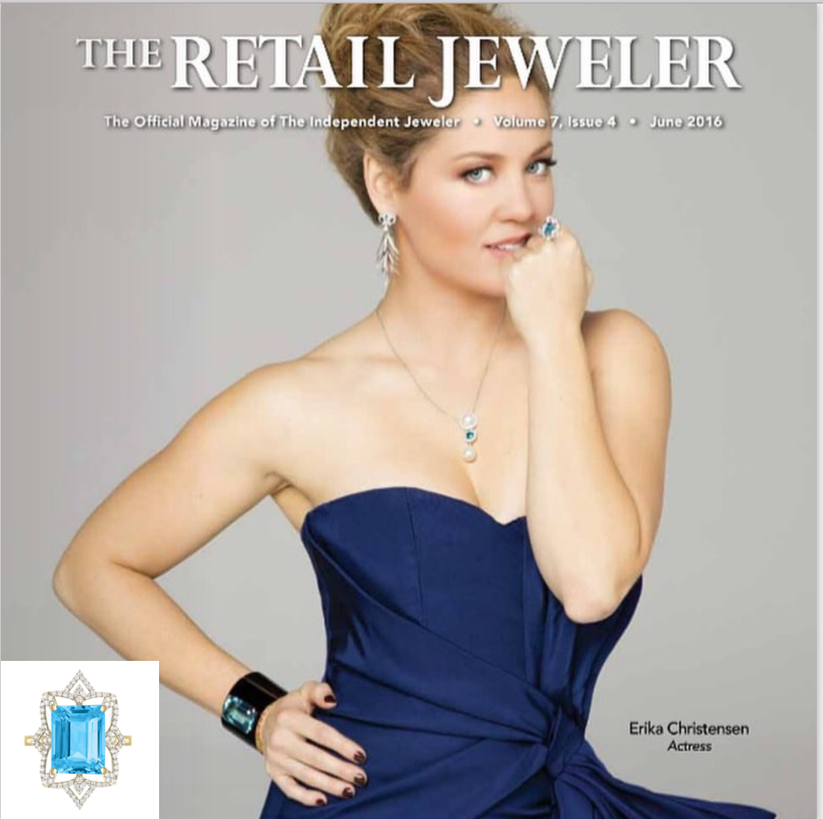 Arya Esha's Spectrum Award Winning Cocktail Ring on Cover at The Retail Jeweler