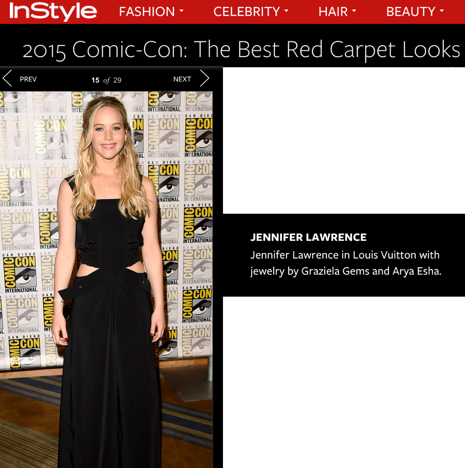 Arya Esha Ring on Jennifer Lawrence included in Best Red Carpet Looks