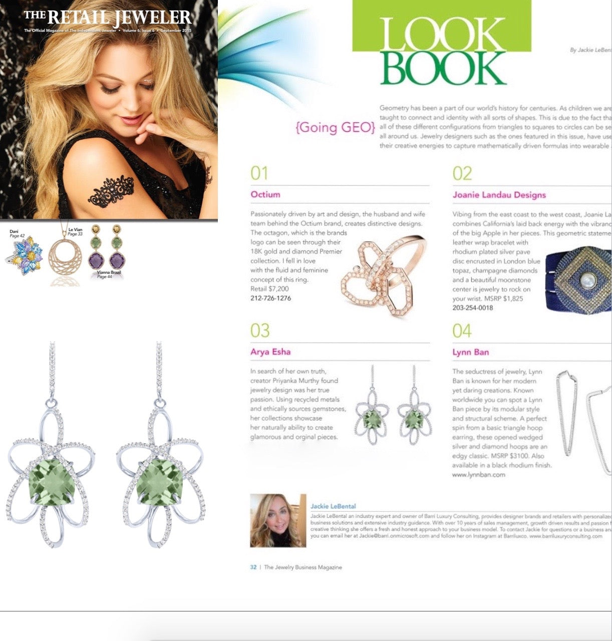 Arya Esha Earrings Included in the Style Pages