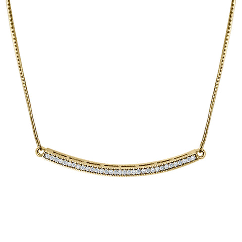Daytime Diamond Crescent Necklace, in Yellow Gold