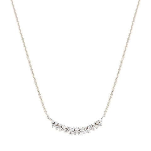 Cluster Diamond Curve Necklace