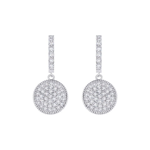 Daytime Diamond Dangle Earrings, in White Gold