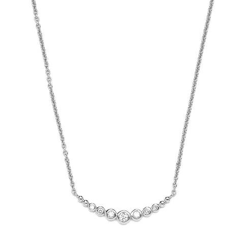 Bezel Smile Diamond Necklace