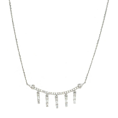Curving Smile Diamond Necklace