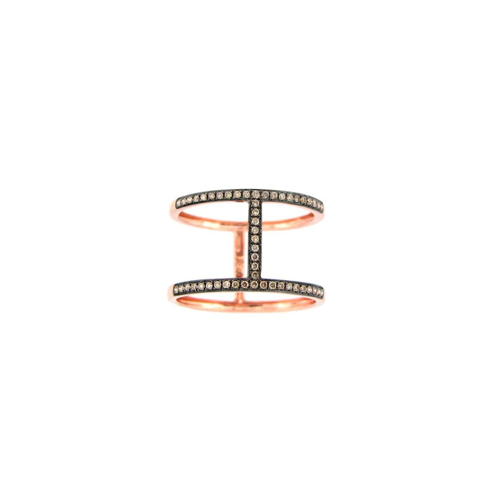 Brown Diamond Couplet Ring