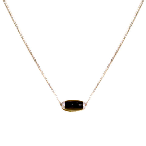 Ophelia Black Agate and Diamond Necklace