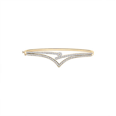 Daytime Diamond Camila Bangle, in Yellow Gold