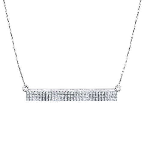 Daytime Diamond Parallel Necklace, in White Gold