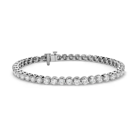 Daytime Diamond 6.59ctw Tennis Bracelet, in White Gold