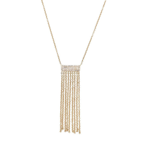 Diamond Waterfall Tassel Necklace