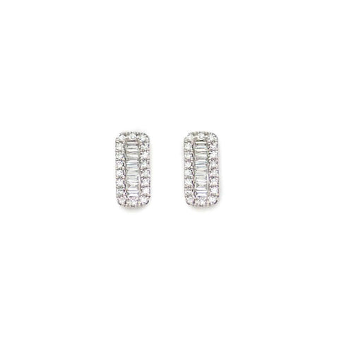Bar Diamond Baguette Studs