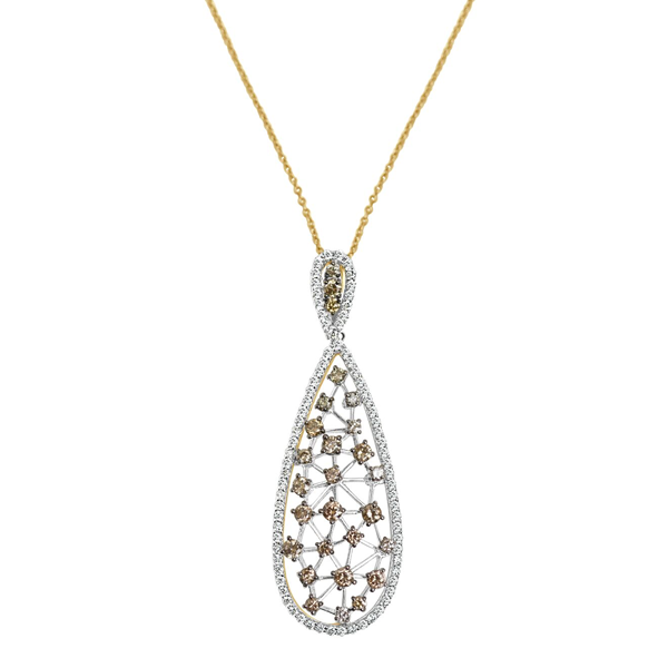 Daytime Diamond Smokey Pendant, in White Gold