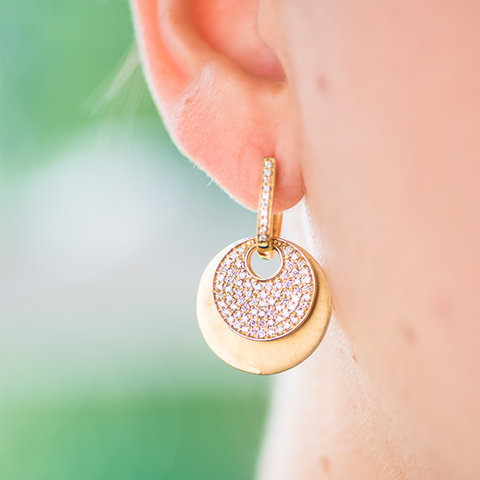 Modular Diamond Disc Earrings