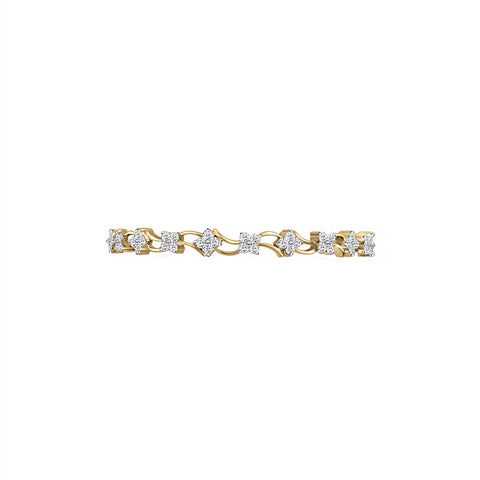 Cocktail Diamond Mariana Bangle, in Yellow Gold