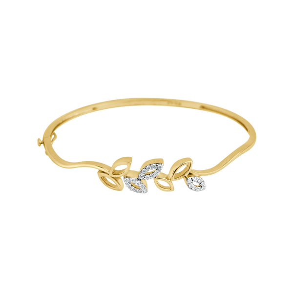 Cocktail Diamond Vine Bracelet, in Yellow Gold