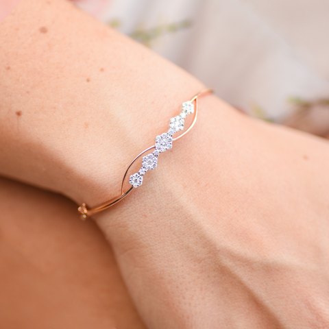 *Daytime Diamond Flora Bracelet, in Rose Gold
