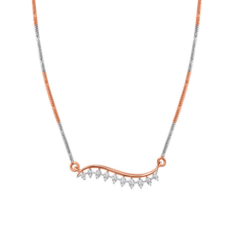 Daytime Diamond Ivy Necklace, in Rose and White Gold