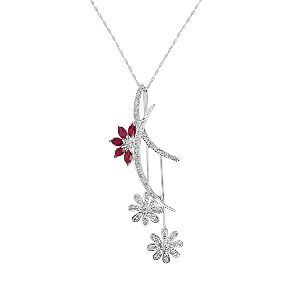 Cocktail Diamonds Malia Necklace, in White Gold