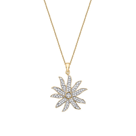 Cocktail Diamond Amina Necklace, in Yellow Gold