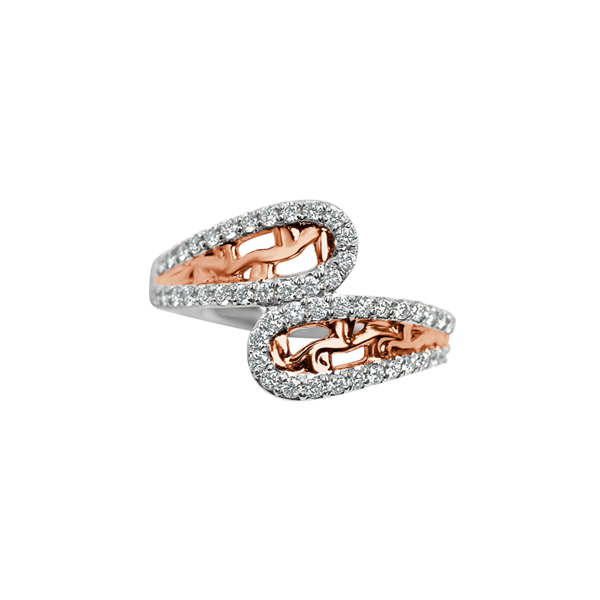 Daytime Diamond Iris Ring, White and Rose Gold
