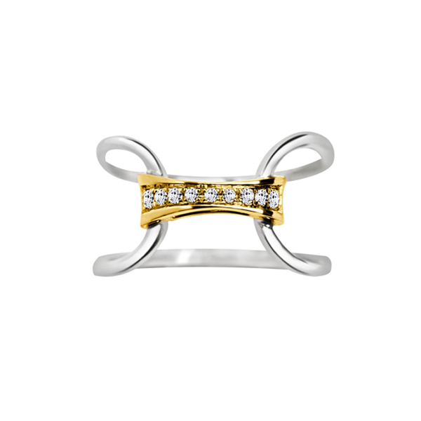 Daytime Diamond Oda Ring, in Yellow and White Gold