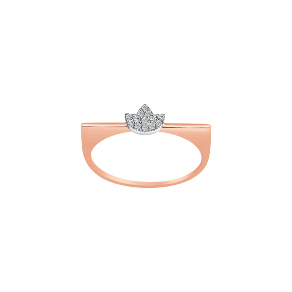 Daytime Diamond Lotus Ring, in Rose Gold