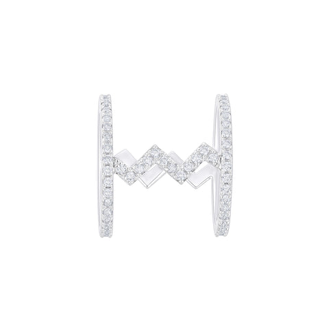 Daytime Diamond Zag Ring, in White Gold