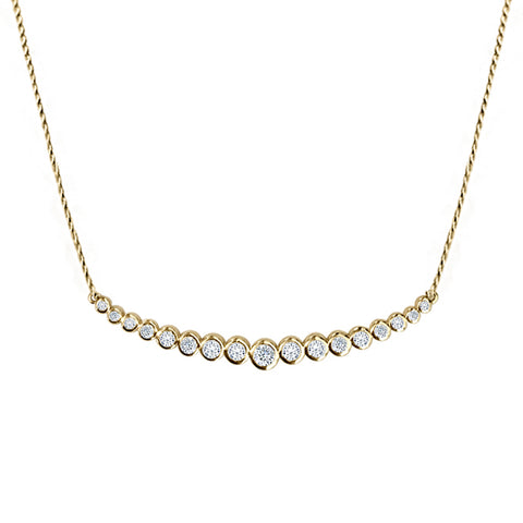 Daytime Diamond Eclipse Necklace, in Yellow Gold