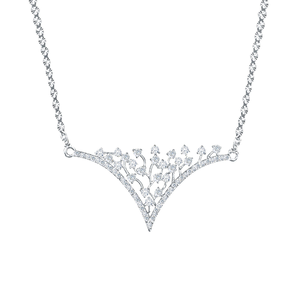 Cocktail Diamond Vera Necklace, in White Gold